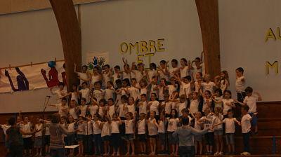 La chorale de l'élémentaire