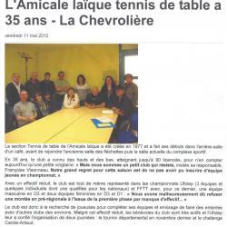 section tenis de table