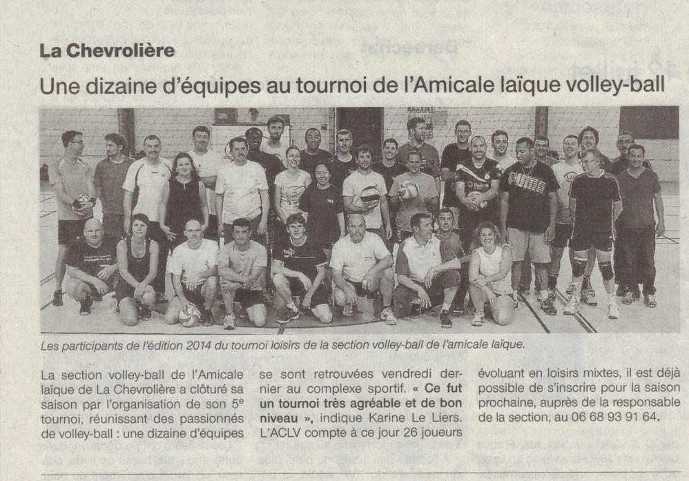 Volley tournoi juin 2014